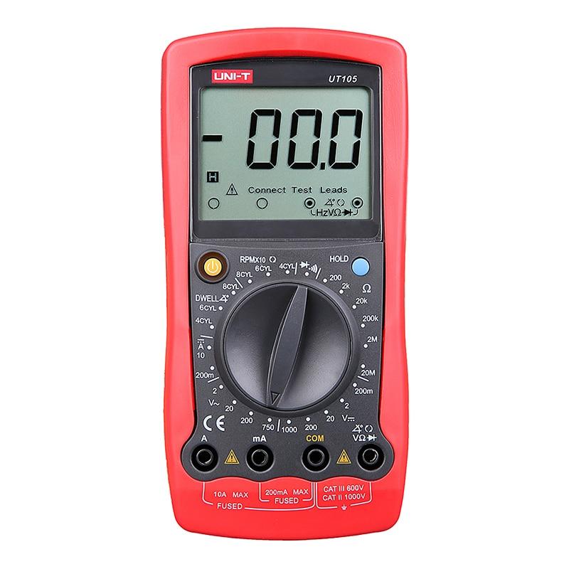 ФОТО UNI-T UT105 Digital Automotive Multimeter Handheld Automotive Multi-Purpose Meters Ammeter Ohm Volt Digital Universal Meter
