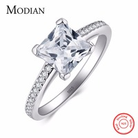 2016 Rainbow Jewel Engagement AAAAA Cubic Zircon Diamond Rings Real 925 Sterling Silver Wedding Ring Bridal