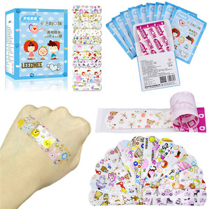 Image 4 - 100PCS Waterproof Breathable Cute Cartoon Adhesive Bandages Wound Dressing First Aid Stickers For Children Kids