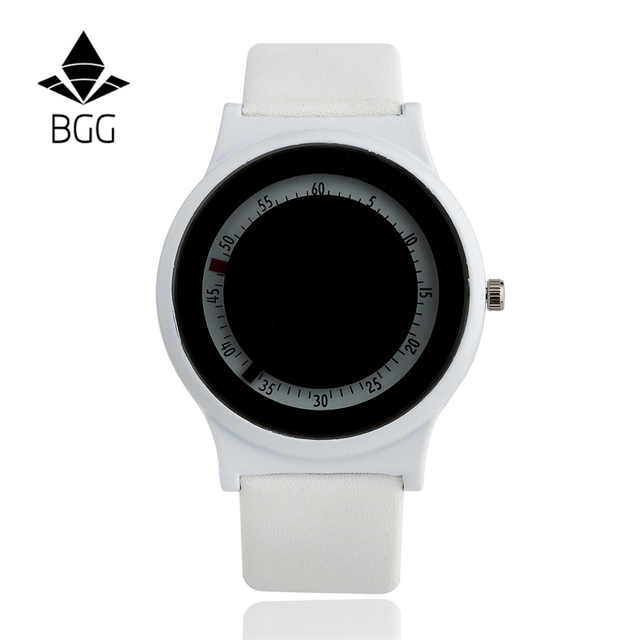 BGG часы Арабскими цифрами циферблат дамы Случайные Часы инновационных Женщин Платье Часы дети Кожаный Кварцевые Наручные Часы часы часы