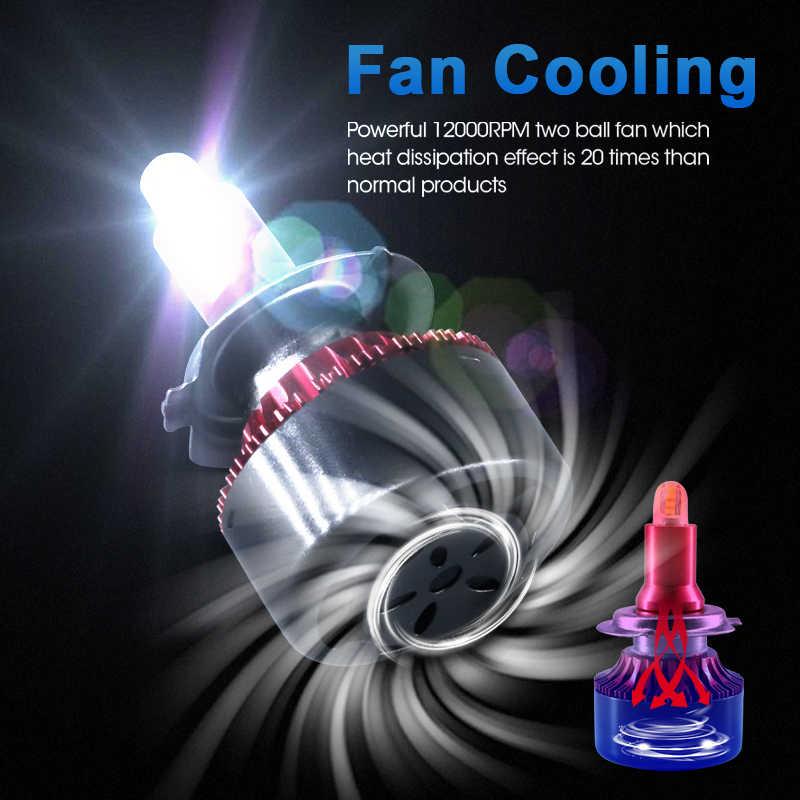 hlxg 8Sides CSP 13500LM H8 H11 Fog lights h7 LED Headlight HB3 9005 HB4 H3 5202 880 881 H27 LED H1 9012 HID2 Auto Lamp 12V 6000K