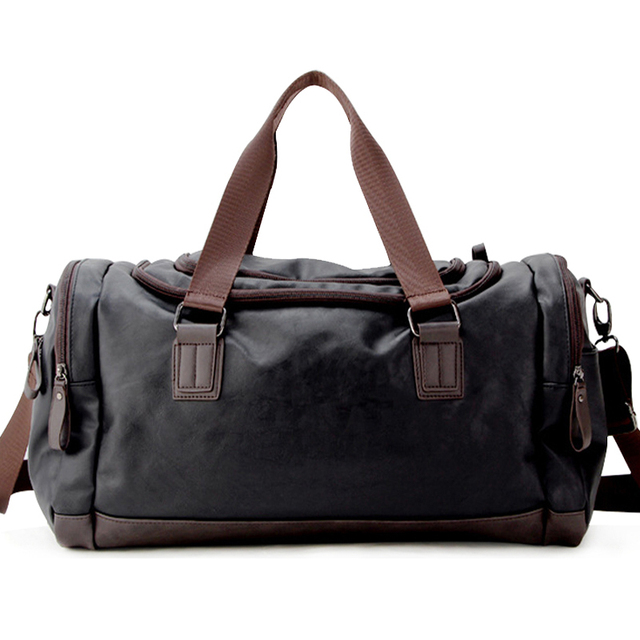 Top Quality Casual Travel Duffel Bag Pu Leather Men Handbags Large Capacity Bags Black Mens Messenger Tote Jxy815 My Blog