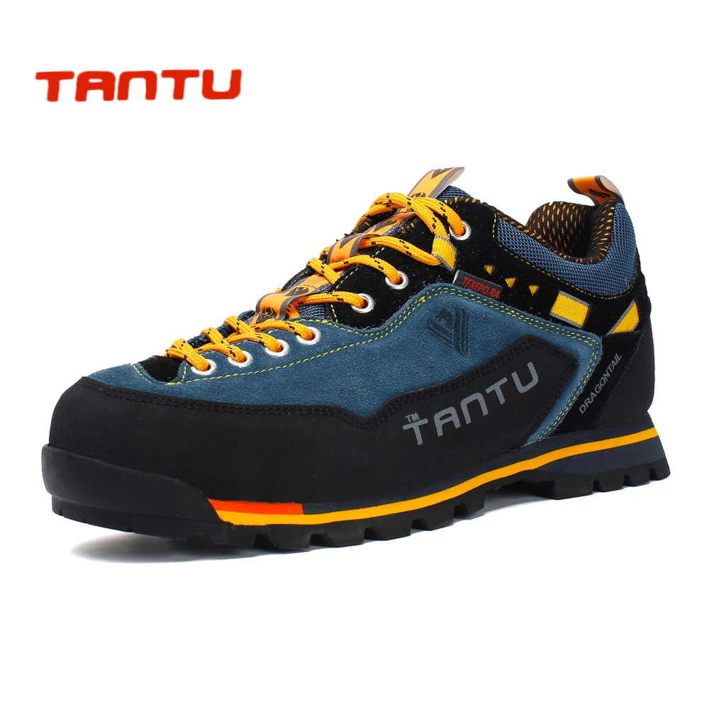 New Brand hiking shoes breathable outdoor shoes large size 39 46 camping climbing rubber sole leather