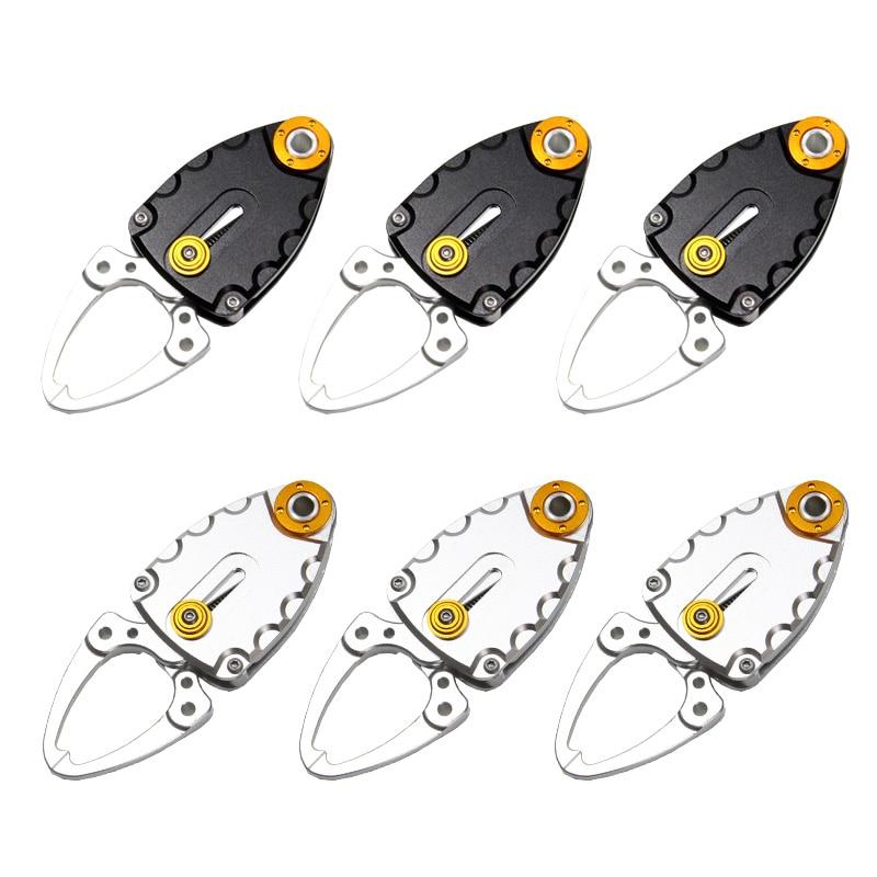 6PCS Compact Fish Lip Grip Gripper Grabber Grips Pocket alluminio - Utensili manuali - Fotografia 1