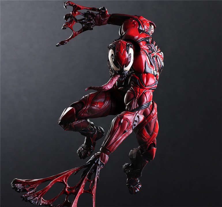 Boxed DC Play Arts Kai Spider Man Venom Limited Color Ver Playarts Doll PVC Action Figure Resin Collection Model Toy Gift model fans spider man action figure venom spride collection model toys play arts kai amazing spiderman play arts venom