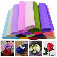 250*25cm Crinkled Crepe Origami Paper Craft DIY Flower Garland Wrapping Fold Scrapbooking Gifts Party Decoration(China)