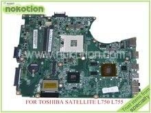 NOKOTION A000081450 DABLBMB28A0 REV A материнская плата для ноутбука для toshiba satellite L750 L755 материнская плата HM65 DDR3