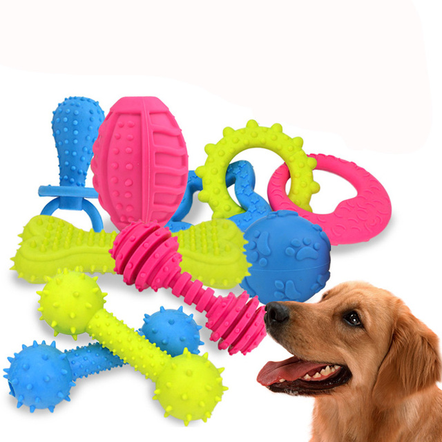 18 Style Pet Dog Toys Non-toxic Rubber Chew Squeaky Toy for Cat Puppy Baby Dogs Funny Nipple Ball Interactive Game Toys