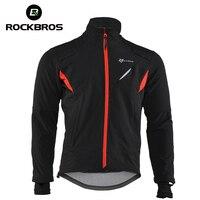 ROCKBROS MTB Cycling Warm Windproof Riding Jacket Sport Fleece Thermal Bicycle Breathable Reflective Anti Sweat Bike