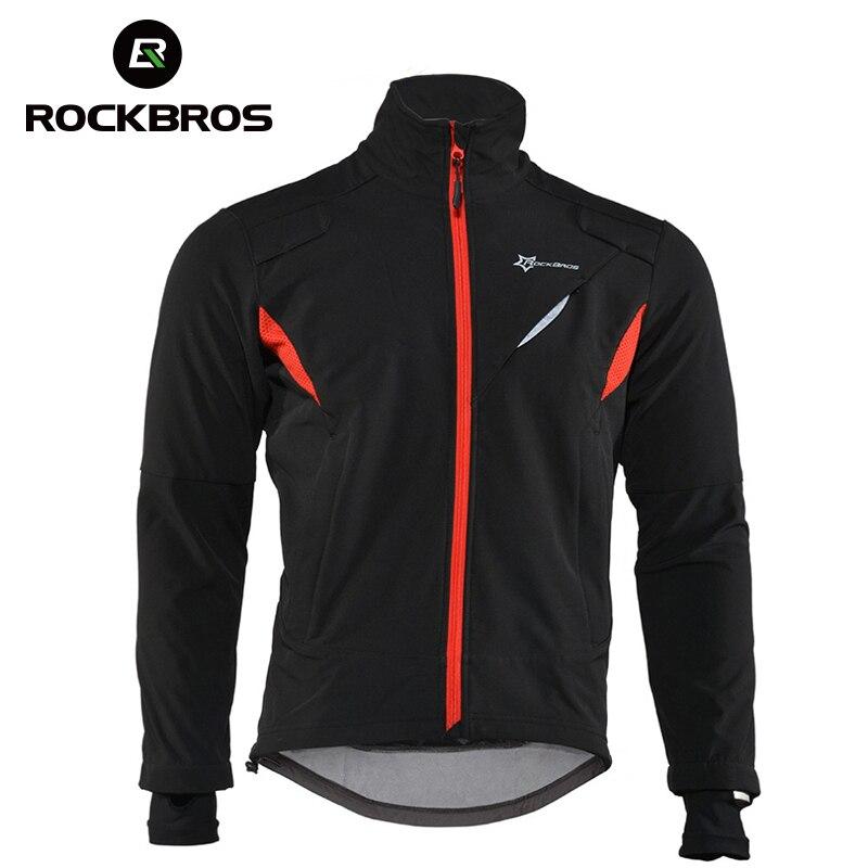 Rockbroтрикотаж зима Тепловая флисовая длинная велосипедная одежда ветрозащитная езда трикотаж s непромокаемая Светоотражающая куртка