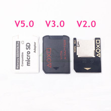 High Quality 5.0 SD2Vita Adapter for PS Vita 1000 2000 Memory Card Slot for PSVita Micro SD card Reader Adapter
