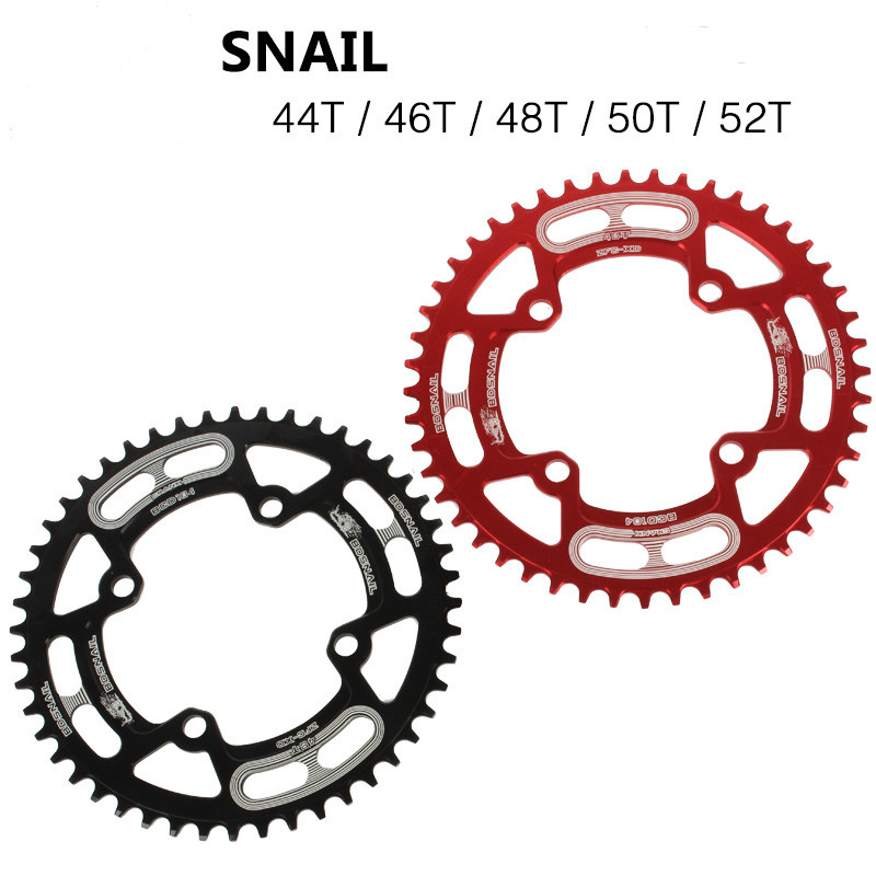 bicycle chainwheel mtb narrow wide mountain chainring 104BCD 44T 46T 48T 50T 52T positive / negative teeth Chainwheel black red|Bicycle Crank & Chainwheel| |  - title=