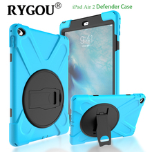 Armor Shockproof Case For iPad Air 2 High Impact Resist Silicone Heavy Duty Hard Cover Full Body Protective Case For Ipad 6 Air2