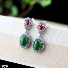 KJJEAXCMY S925 pure silver jewelry earrings wholesale fashion ladies and Tian Biyu Earrings refreshing new products