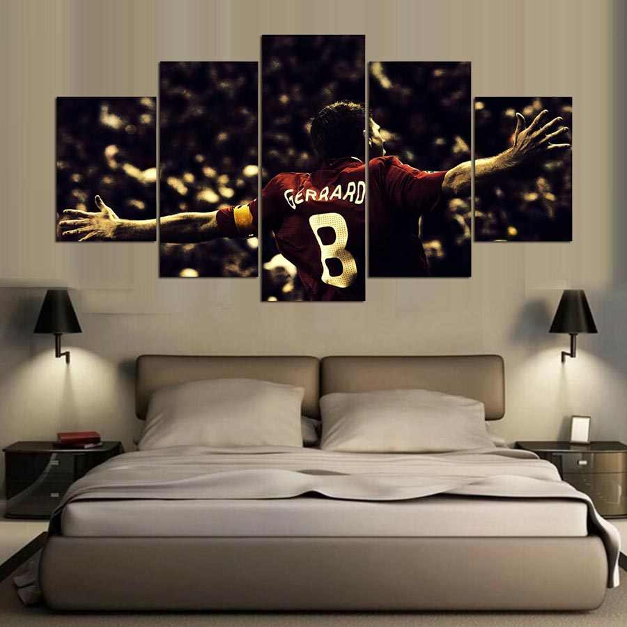 5 panel hd liverpool fc print canvas art wall framed paintings for living room wall picture