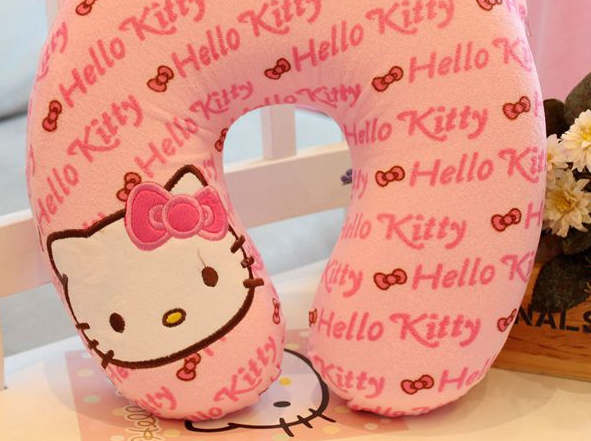 Super Kawaii 27*27*6CM U Neck Hello Kitty Neck Relax Pillow Cushion Home & Car Cute Cotton HOME ...