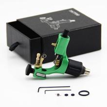 Professional Rotary Tattoo Machine Aluminium Alloy Green Tattoo Frame Tattoo Motor Gun for Shader Liner with Tattoo Accessories