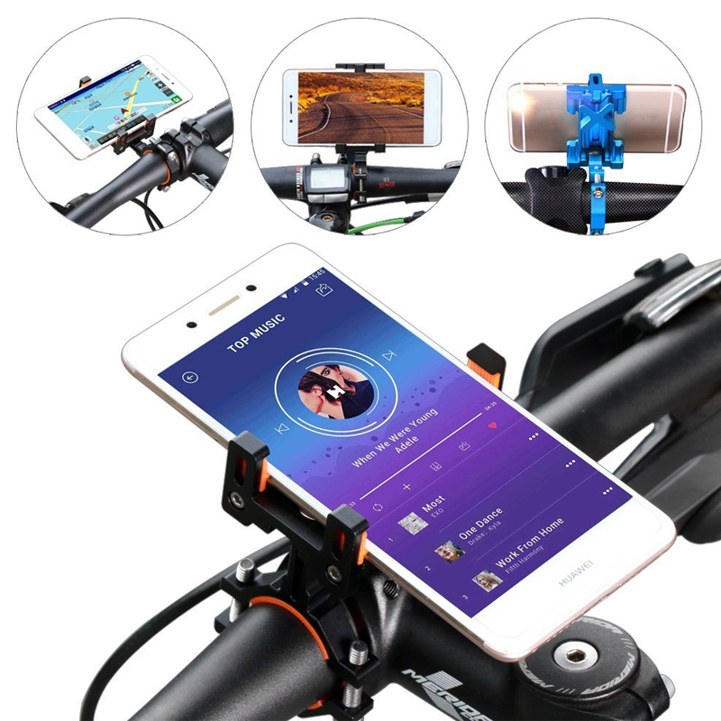 Universal Alloy Bike Holder Adjustable Phone Mount on Bike for Cycling Handlebar Stand GPS Phone Bracket Racks