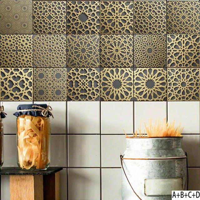 Retro Kitchen Wall Tiles Stickers Home Bathroom Wall Decoration