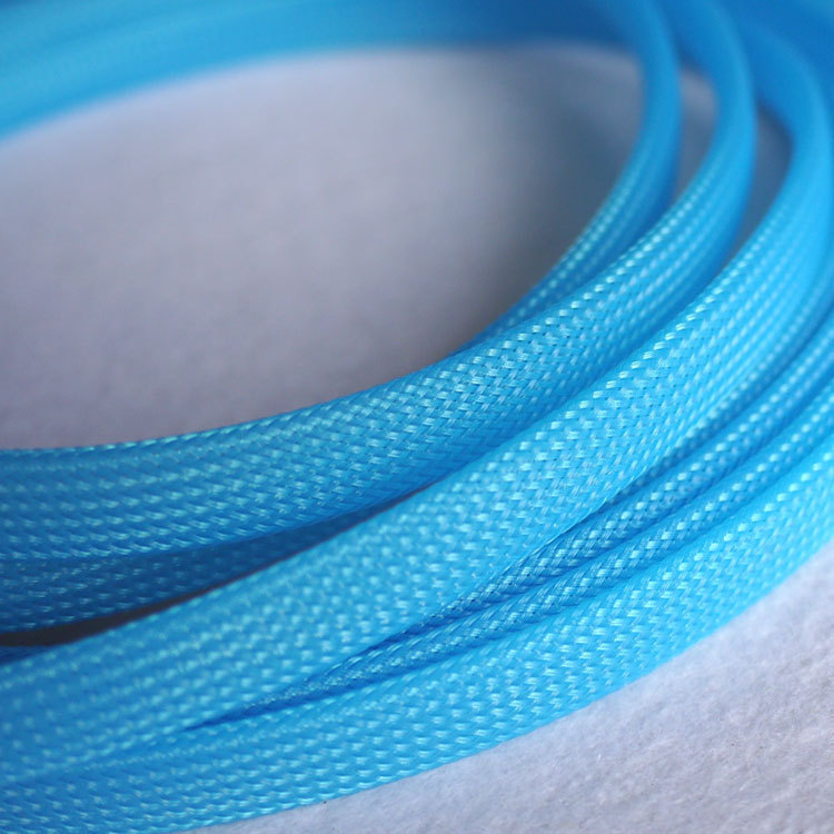 5M 10mm Nylon Braided Cable Sleeving Shielding Sheathing Auto Wire ...