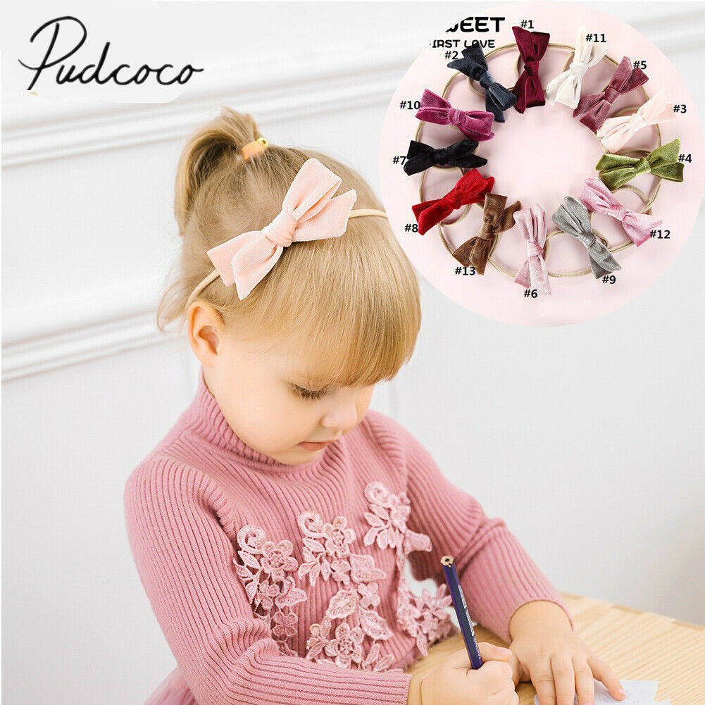 2019 Baby Accessories Kids Girl Baby Hair Ring Rope Velvet Bowknot Holder Elastic Solid Color Velvet Band Ring Baby Gift