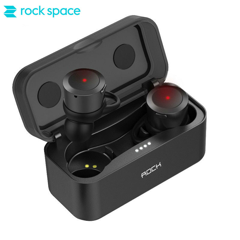 ROCKSPACE TWS Earbuds In Ear Headset with Charging Box HiFi Sound Sport Running Earphones for iphone 8 7 Samsung Xiaomig Xiaomi