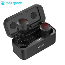 ROCKSPACE TWS Earbuds In Ear Headset with Charging Box HiFi Sound Sport Running Earphones for iphone
