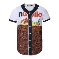 Mr 1991INC Brand Men T Shirt Fashion Street Chocolate 3D Print Baseball T Shirt Uniform Men