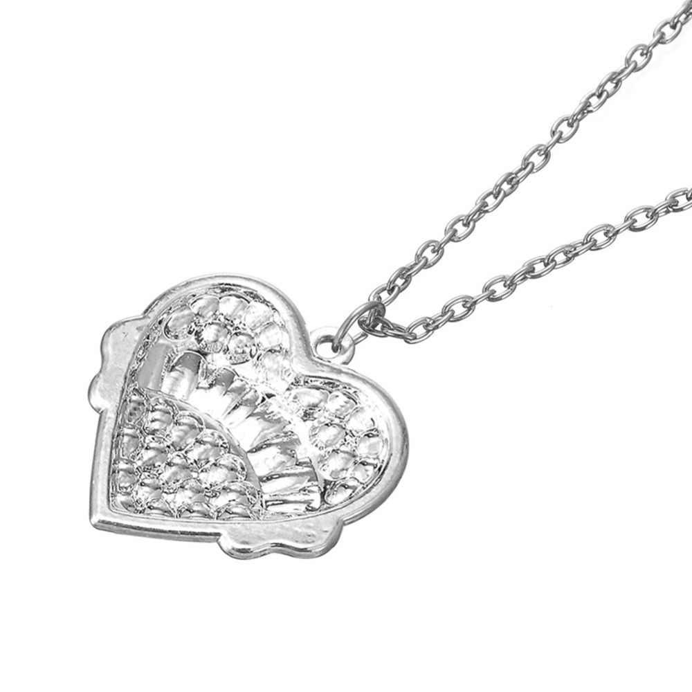 Mi forma LIL SIS pequeña familia collares moda mejor amigo cadena colgante collar amor corazón hermana regalo para Hermanas