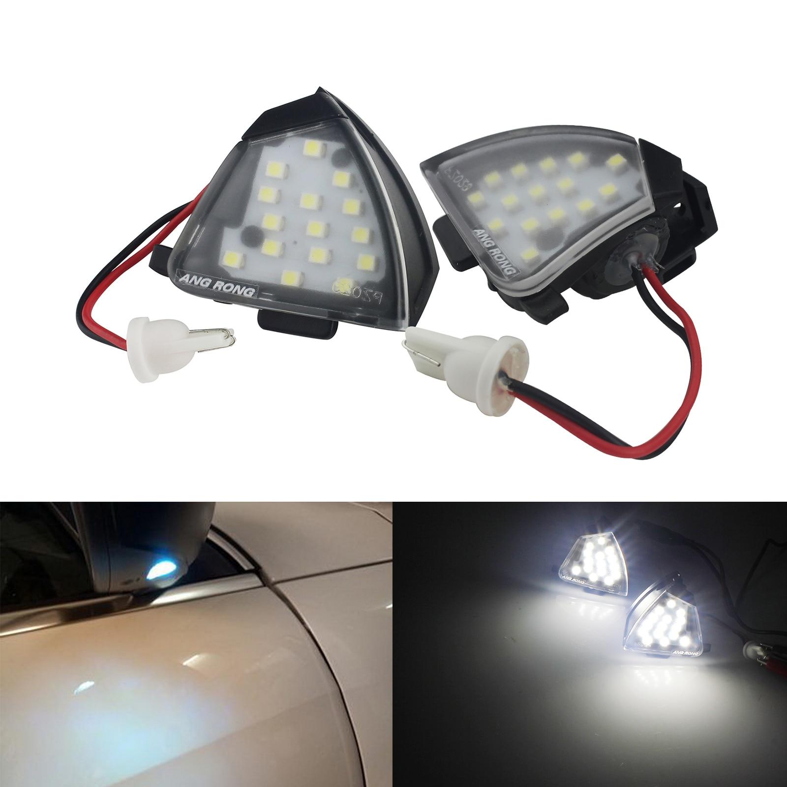 ANGRONG Pour VW Golf MK5 EOS GTI R32 Passat B6 Sharan 7N Touran Sous Miroir LED Flaque Lumière