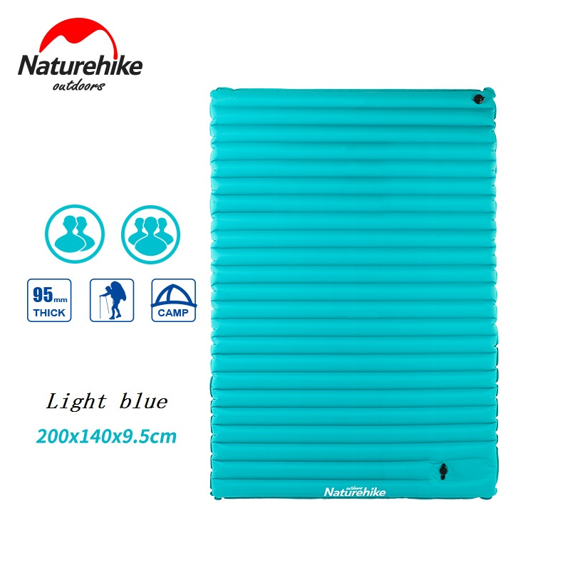 Naturehike Utralight Outdoor Camping Mat TPU Inflatable air Mattress Double 2 Person Portable Sleeping Pad Tent Air bed betos car air mattress travel bed auto back seat cover inflatable mattress air bed good quality inflatable car bed for camping