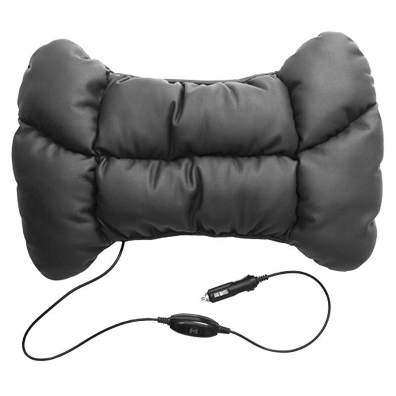 Car Seat Pillow Car Electric Massage Lumbar Cushion Waist Pillow Accessory Car-styling Support Pillow