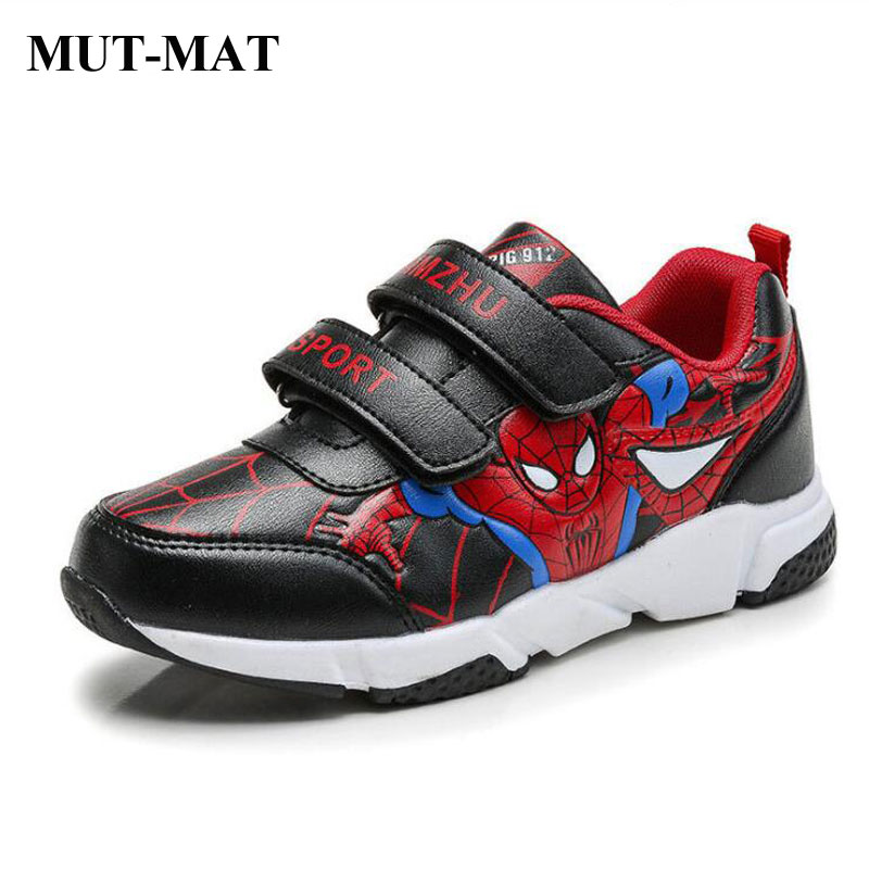 Children's Leather Sports Shoes  Boy's Casual  Shoes Mesh Lining Running Shoes Multi-directional Skid Sport Shoes