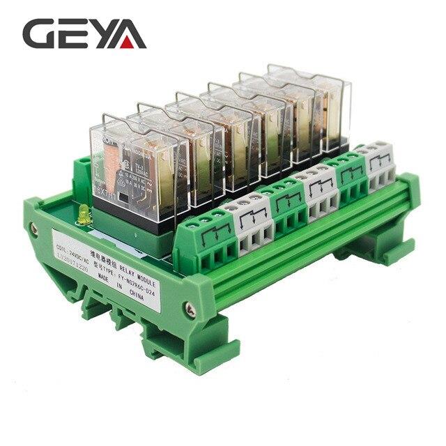 GEYA NG2R 6 Channel Omron Relay Module 5V 12V 24V 230V Relay Board PLC Control Omron Relay
