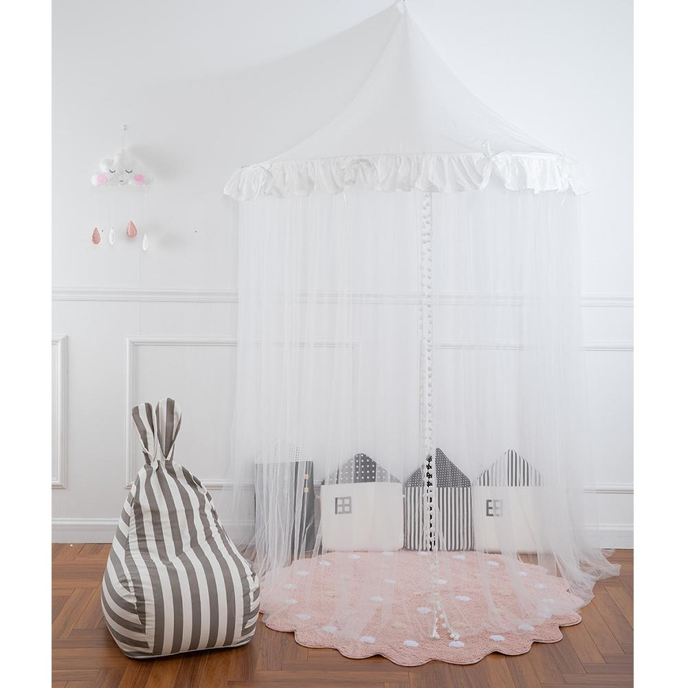 US $32.15 33% OFF|Princess Girls Bed Canopy Children Ceiling Half Moon  Bedroom Bedside Gauze Girl Heart Room Decorating Crib Dome Castle Fairy  Net-in ...