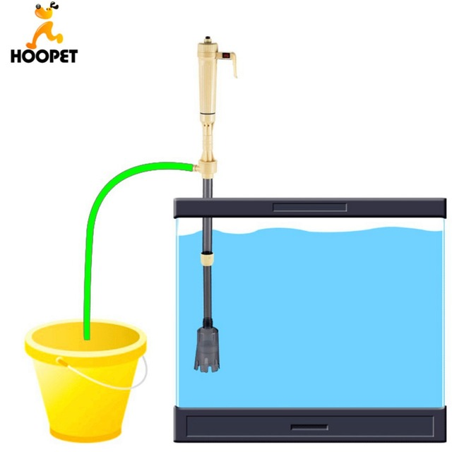 Hoopet Fish Tank Aquario Cleaning Tools Electric Gravel Cleaner Filter Siphon Vacuum Water Change Washer Pump Aquarium Accessory