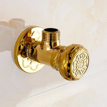 Filling Valves High Quality Antique Brass and Gold 1/2 Malex Bathroom Angle Stop Valve Faucet  Wall Mounted Filling Valve 4118K 1pcs refrigeration filling head refrigerator check valve filling head quick connector refrigerant charging valve