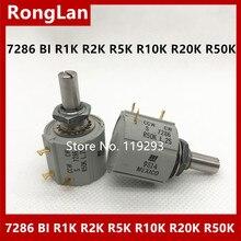 [BELLA] 7286 เม็กซิกันการผลิต BI R1K R2K R5K R10K R20K R50K Multi TURN Potentiometer CCW CW  3 ชิ้น/ล็อต