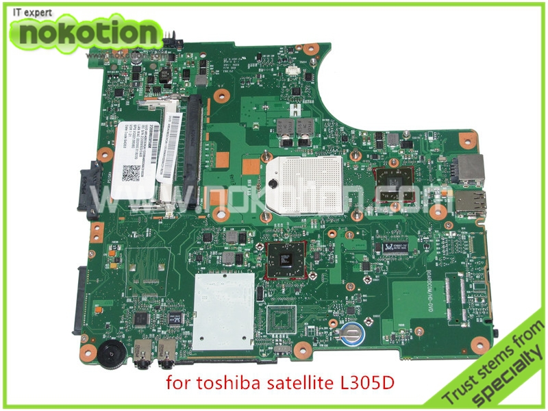 SPS V000138980 For toshiba satellite L300 L305D LAPTOP Motherboard AMD 216-0674024 DDR2 6050A2323101-MB-A01 купить
