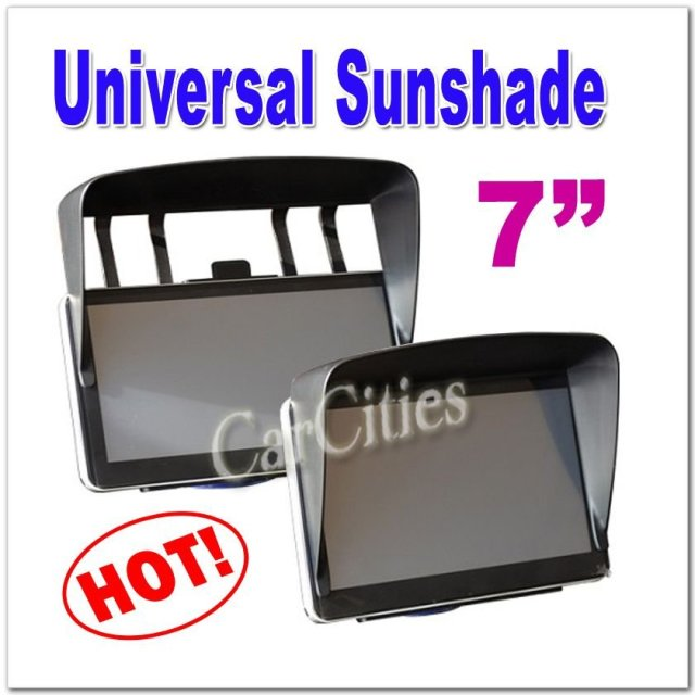 7 inches hard plastic Universal Sunshade for 7 inches car GPS,Excellent Partner for Navigation,Free shipping,size:173*110*55mm