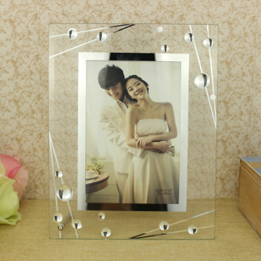 Butterfly Glass Photo Frame Plexiglass Stand Table Display Photo