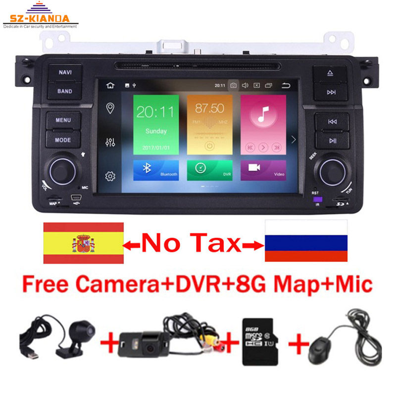 2019 In Stock Car DVD Player for BMW E46 Navigation Android 9.0 Wifi 4G 3G GPS Bluetooth Radio RDS USB SD Free 8GB SD Map DVR2019 In Stock Car DVD Player for BMW E46 Navigation Android 9.0 Wifi 4G 3G GPS Bluetooth Radio RDS USB SD Free 8GB SD Map DVR