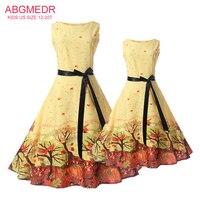 Mother Daughter Dresses Summer 2017 New Teens Girls Dress Children Clothes Mom Monsoon Kids Family Matching