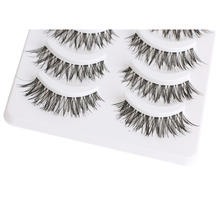 5 Pairs Fashion Handmade Comestic Natural Long Cross False Eyelashes Fake Eye Lashes Makeup Beauty Tools