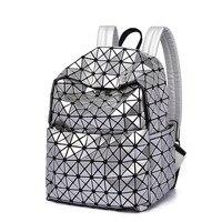 Lisse laser BackPacks Universal Shoulder Bag Fashion Man And Women PU Material Plaid Zipper Bag