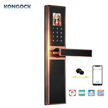 Electronic Keyless Biometric Face & Palm-print Recognition Smart Door Lock for home and apartment or hotel etc bluetooth smart electronic keyless keypad home entry door lock with smartphone controlled for hotel and apartment compatible