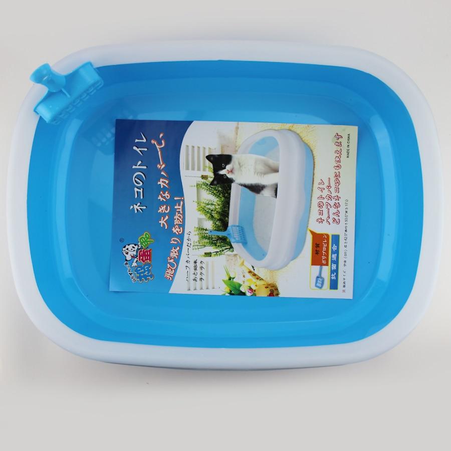 Plastic Litter Box Toilet Closed Large Enclosed Cat Box Toilet Sand Pets Litter BedPan ShovelBasin Restroom Trays Dog QQM2391