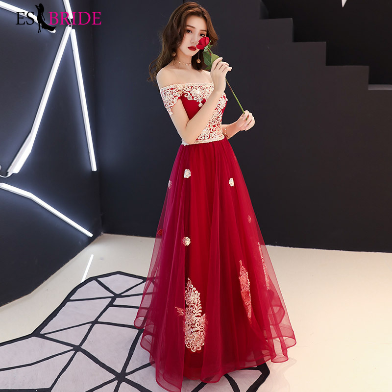 Robe De Soiree New Sexy Boat-neck A-line Short Sleeve Lace Teal   Evening     Dresses   Long 2019 Elegant Wedding Guest Gowns ES1548