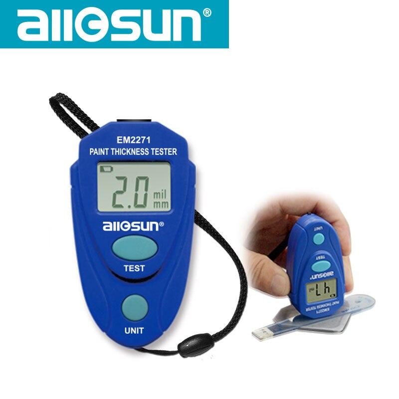 Mini Digital Medidor de Espessura de Revestimento Pintura Medidor De Espessura testador Medidor de Espessura Espessura da Pintura Do Carro EM2271 all-sol