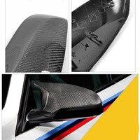 Porta lateral do carro espelhos retrovisores de fibra carbono replacment capa para bmw m3